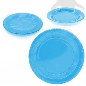 Pack de grandes pratos de papelão azuis