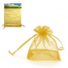 Pack de Sacos de Organza Dourada 17x23