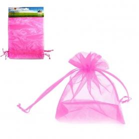 Pack de Sacos de Organza Rosa 17x23