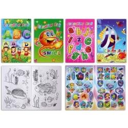 Livro para colorir com adesivos
