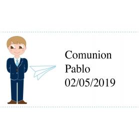 Criança personalizada da etiqueta do comunhão