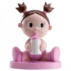 Figura para bolo de batizado de bebê com bibi