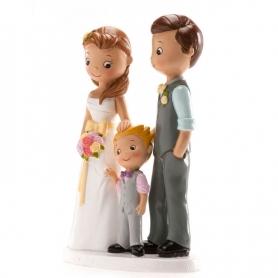 Namorados figuras com criança