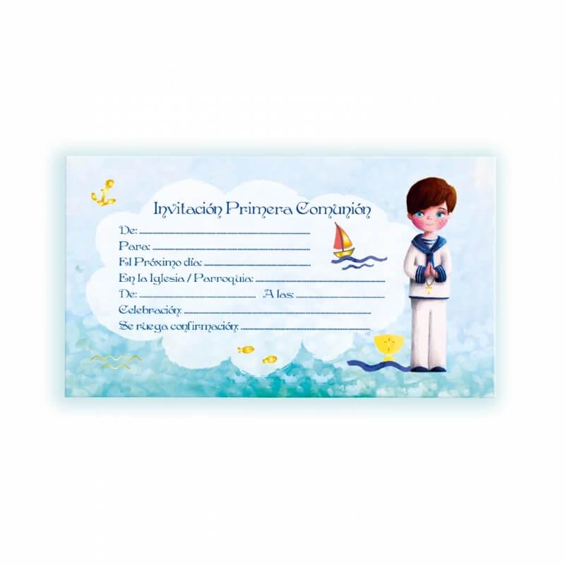 Convite do comunhão do marinheiro