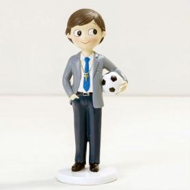 Figura de comunhão de futebol