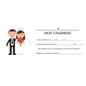 Convites de casamento para preencher