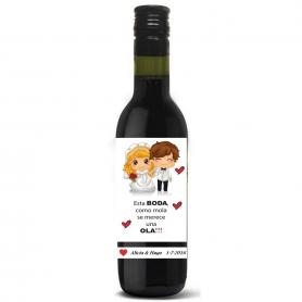 Garrafa De Vinho Personalizada Wedding Outlet