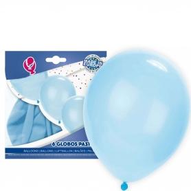 Pacote de balões azuis claros