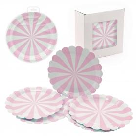 Pacote de placa rosa descartável