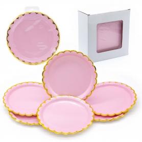 Pack de placas de papelão rosa