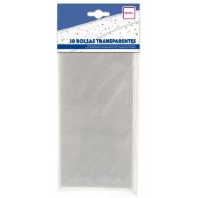 Pacote de sacos transparentes