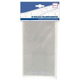 Pacote de sacos de doces transparentes