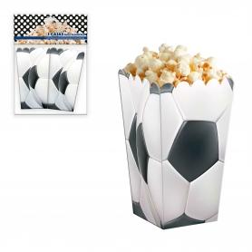 Pacote de futebol de caixa de pipoca