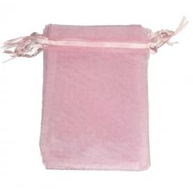 Bolsa de organza rosa claro 13 x 17