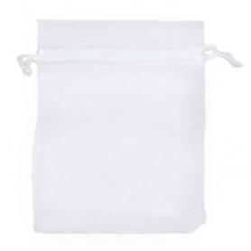 Saco de organza branco 7x10