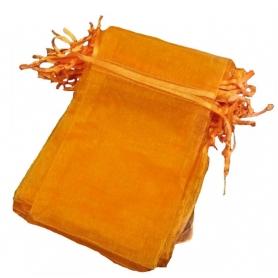 Saco de organza laranja 13x17