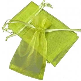Saco de organza verde escuro 7x10