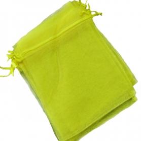 Saco de organza amarelo 7x10