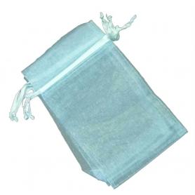 Saco de organza azul claro 7x10