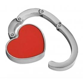 Cabide de saco de coração