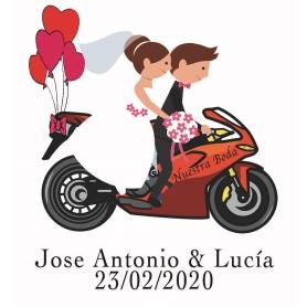 Adesivos de namorados de motocicleta