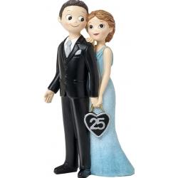 Figura de casamento de prata