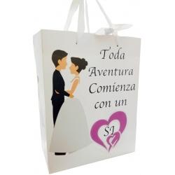 Bolsa de casamento 23 x 18 x 10 cm.