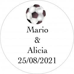 Adesivos de futebol com nomes