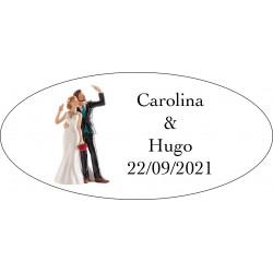 Etiquetas de casamento Will & Grace