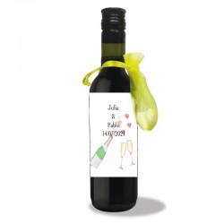 Garrafa de vinho personalizada casamento