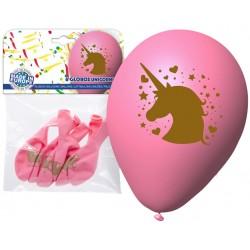 Pacote de balão unicórnio rosa