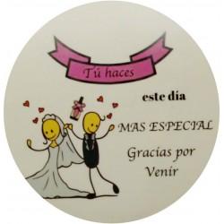 Adesivos de noiva e noivo