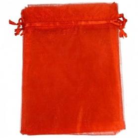 Saco de organza vermelho 9 x 15