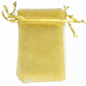 Saco de Organza Dourado 7x10