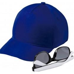 Boné azul marinho com óculos