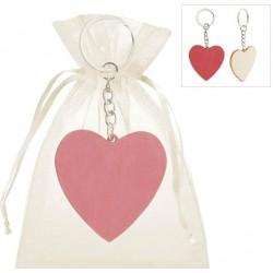 Llavero corazón con bolsa...