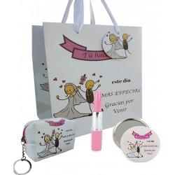 Conjunto de casamento especial, caneta, espelho e bolsa...