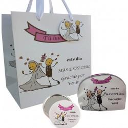 Conjunto de presente de casamento com espelho, bolsa e bolsa