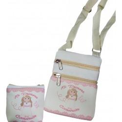 Presente de comunhão da menina, bolsa com bolsa