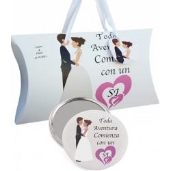 Presente de casamento, espelho e caixa personalizada