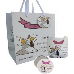 Conjunto de presente de casamento, bolsa, espelho e bolsa...