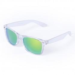 Óculos de sol com moldura transparente