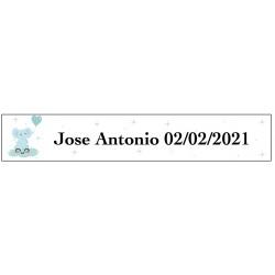 Adesivo de elefante azul, retangular, personalizado para...