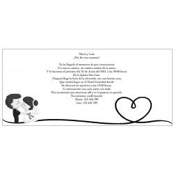 Convites preto e branco personalizados do casamento