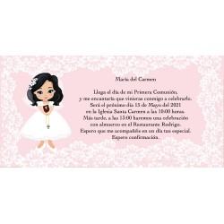 Convite do comunhão da menina primeiro