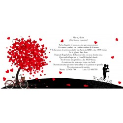 Convites personalizados do casamento da árvore da vida