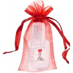 Gel hidroalcoólico com bolsa e personalizado para casamentos
