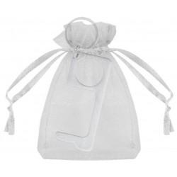 Porta-chaves higiênicos anti-contato com saqueta de organza