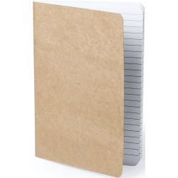 Caderno marrom costurado original e barato