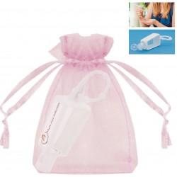 Frasco de gel hidroalcoólico recarregável com saco de...